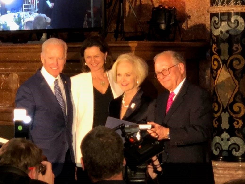 Cindy McCain pictured with Former Vice President Joe Biden, Ilse Aigner, and Ambassador Wolfgang Ischinger in Germany (Source: Sen. McCain's Office)