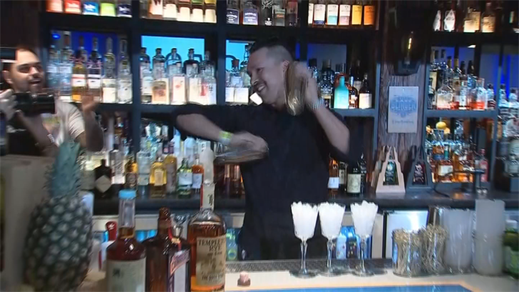 Dozens of people were shaking it up and pouring it out in a Phoenix-area bartending competition Monday. (Source: 3TV/CBS 5)