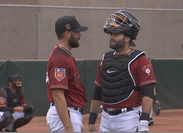 Alex Avila spent most of his career with the Tigers, where he caught teammate Robbie Ray in 2014. (Source: 3TV/CBS 5)