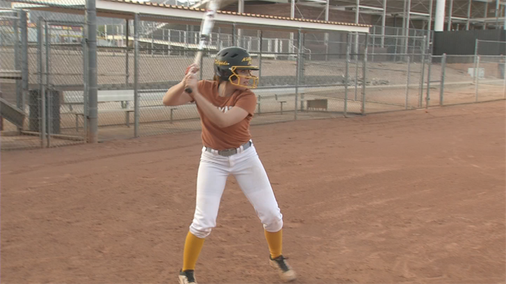 The softball future is in doubt for Mountain Pointe's Taylor Delgado. (Source: 3TV/CBS 5)