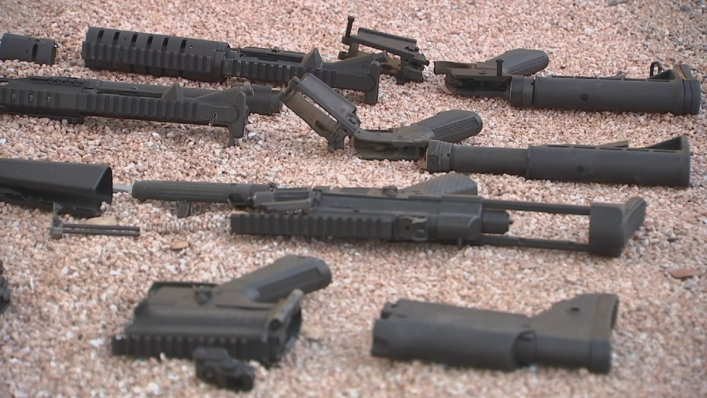 Aaron LaRoque decided to destroy his four AR-15s. (Source: 3TV/CBS 5)