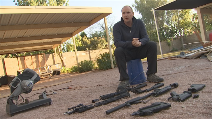 LaRoque said his AR-15s weren't necessary and wanted to destroy them. (Source: 3TV/CBS 5)