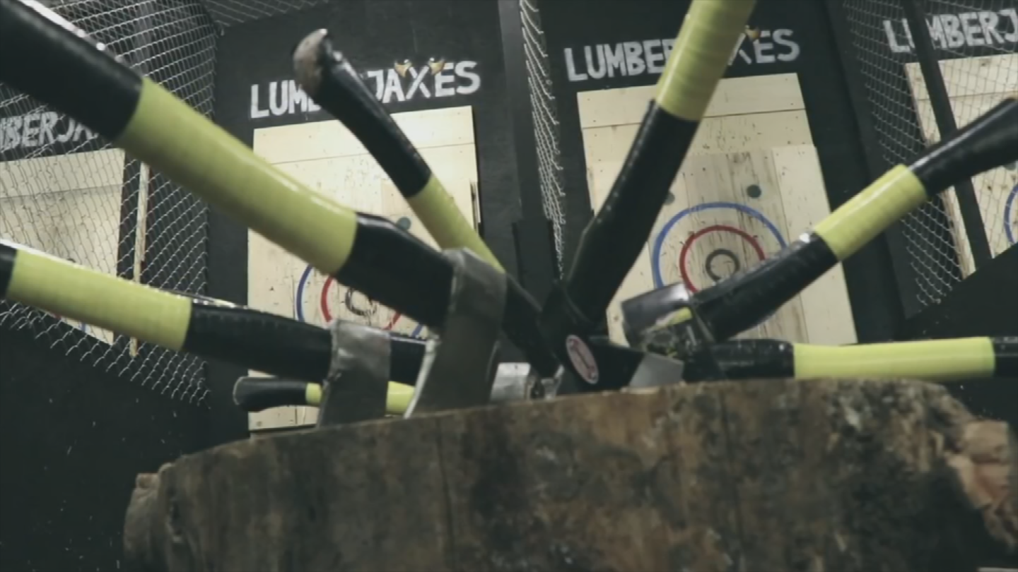 If you are looking If you are looking for a unique twist on a Friday night out with friends, look no further thaa unique twist on a Friday night out with friends, look no further than LumberjAxes, an all-new ax-throwing venue in Tempe. (Source: 3TV/CBS 5)