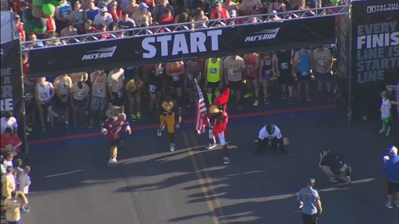 Starting line at the 13th Annual Pat's Run in Tempe on April 22, 2017. (Source: 3TV/CBS 5)