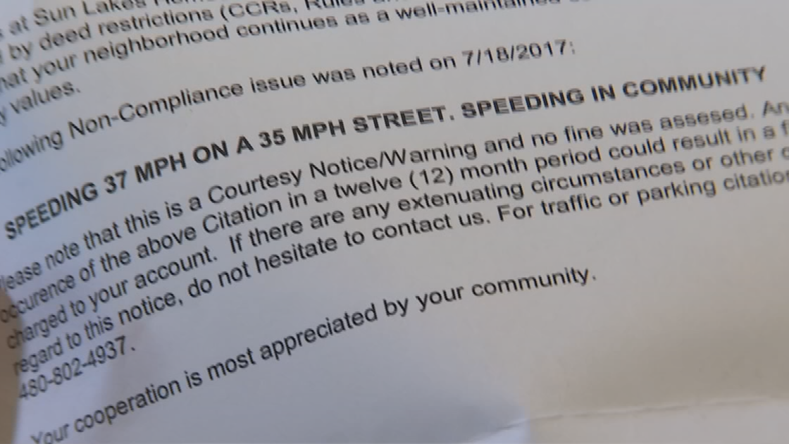 Bernie Van Emden couldn't believe he was busted for speeding by his HOA. (Source: 3TV)