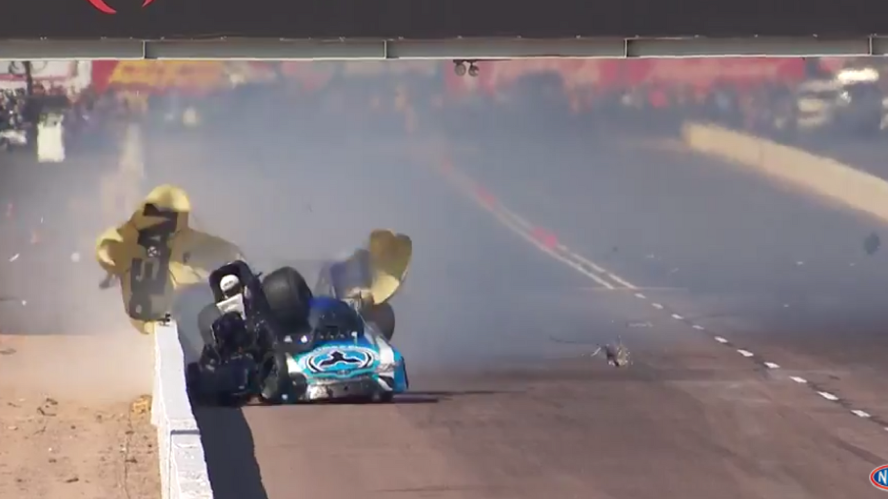 NHRA legend John Force was hospitalized following a brutal crash