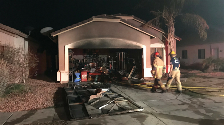 9 people were displaced due to a garage fire in Phoenix. (Source: Phoenix Fire Department)