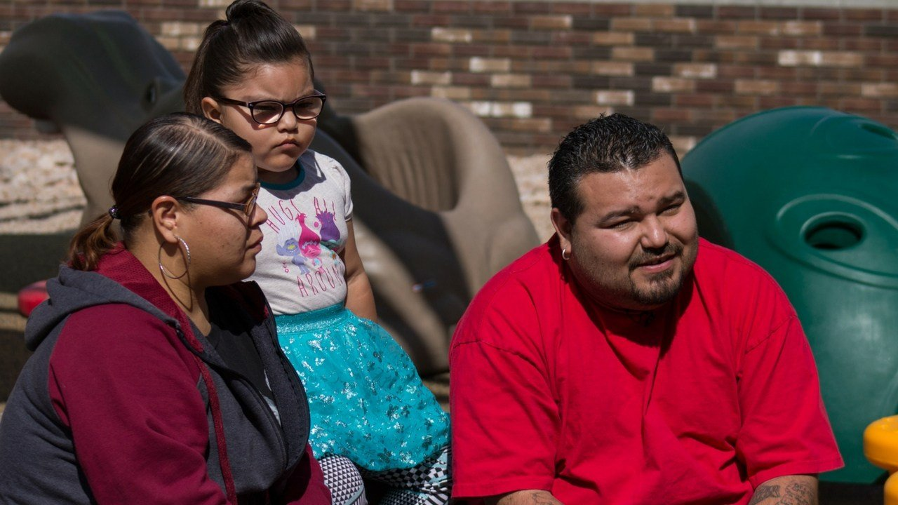 """""""We feel really secure here,"""" said Miguel Valencia, stressing the importance of living in a good neighborhood in Tempe. Miguel and his family have been at Valor on Eighth for almost a month. (Photo by Miles Metke/Cronkite News)"""