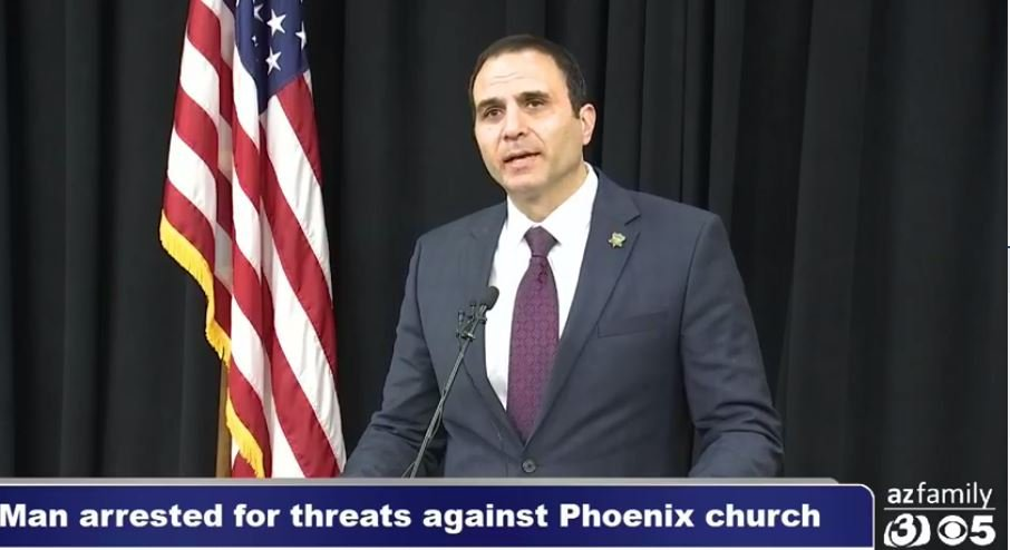 Maricopa County Sheriff Paul Penzone praising the citizen who tipped authorities about a possible shooting at a church. (Source: 3TV/CBS 5 News)