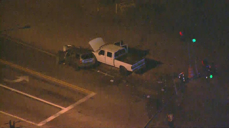 Deputies are investigating a crash that left five people hurt. (Source: 3TV/CBS 5)