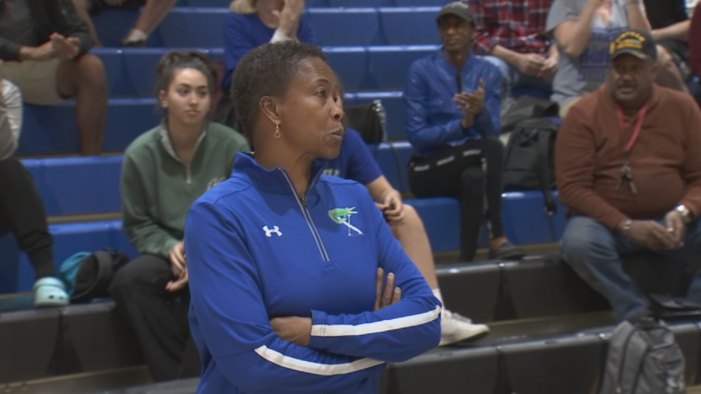 Xavier head coach Jennifer Gillom is glad she is coaching at the high school level. (Source: 3TV/CBS 5)