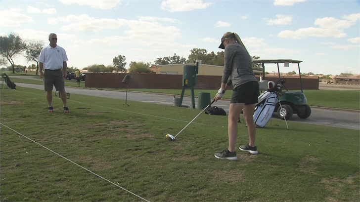 Chandler-Gilbert Community College golfer Taryn Simmons was a two sports athlete at Queen Creek High School, playing softball and golf. (Source: 3TV/CBS 5)