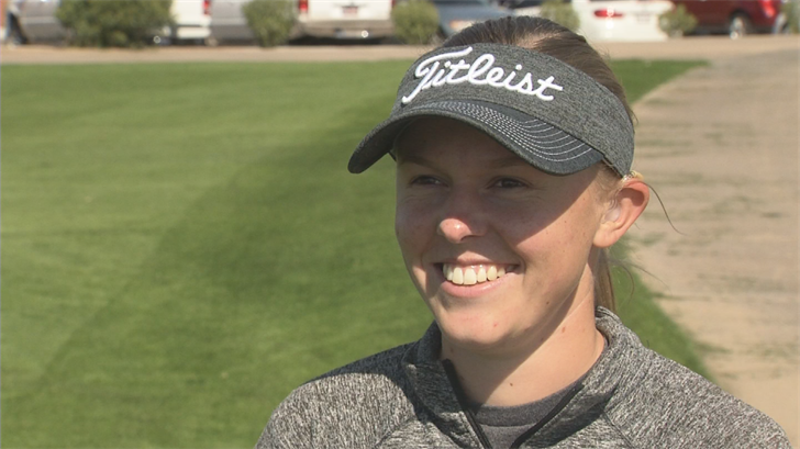 She is now committed to playing golf full time.(Source: 3TV/CBS 5)