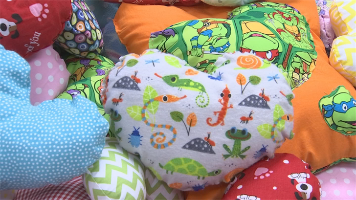 The goal of each pillow is to bring hope, encouragement and smiles to the faces of the children with congenital heart defects. (Source: 3TV/CBS 5)