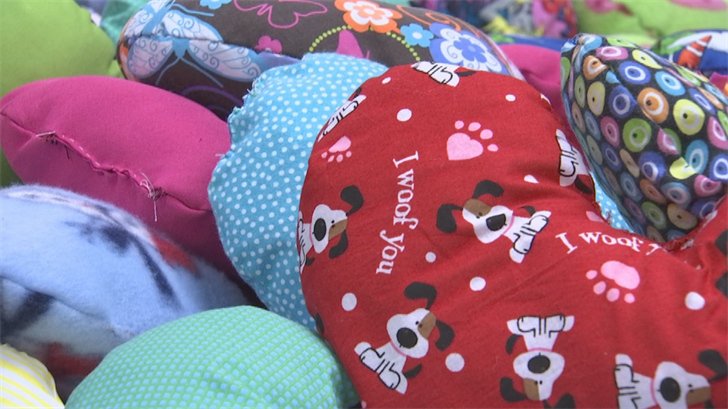 The pillows also to serve practical purposes such as providing body support. (Source: 3TV/CBS 5)