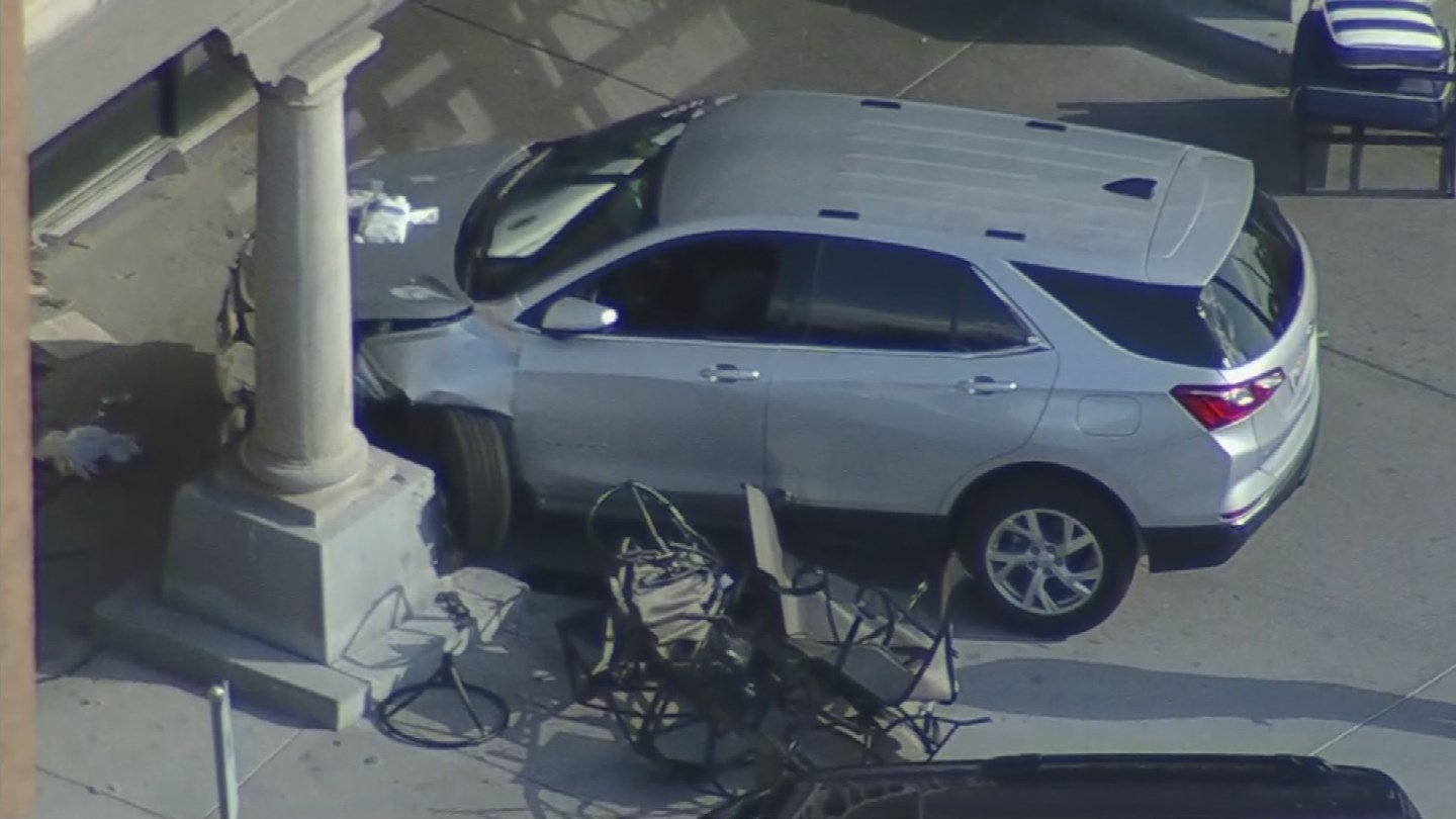 There was a mangled patio set next to the vehicle. (Source: 3TV/CBS 5)