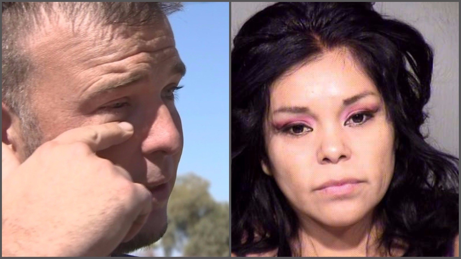 Aaron Walters said he thought he lost an eye. Kris Loring is accused of attacking him with a stiletto. (Source: 3TV/CBS 5 and Maricopa County Sheriiff's Office)
