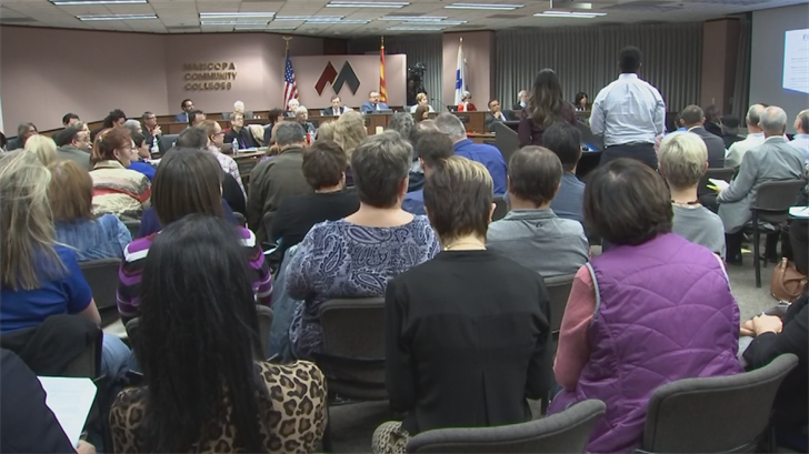 They also packed a MCCC meeting. (Source: 3TV/CBS 5)
