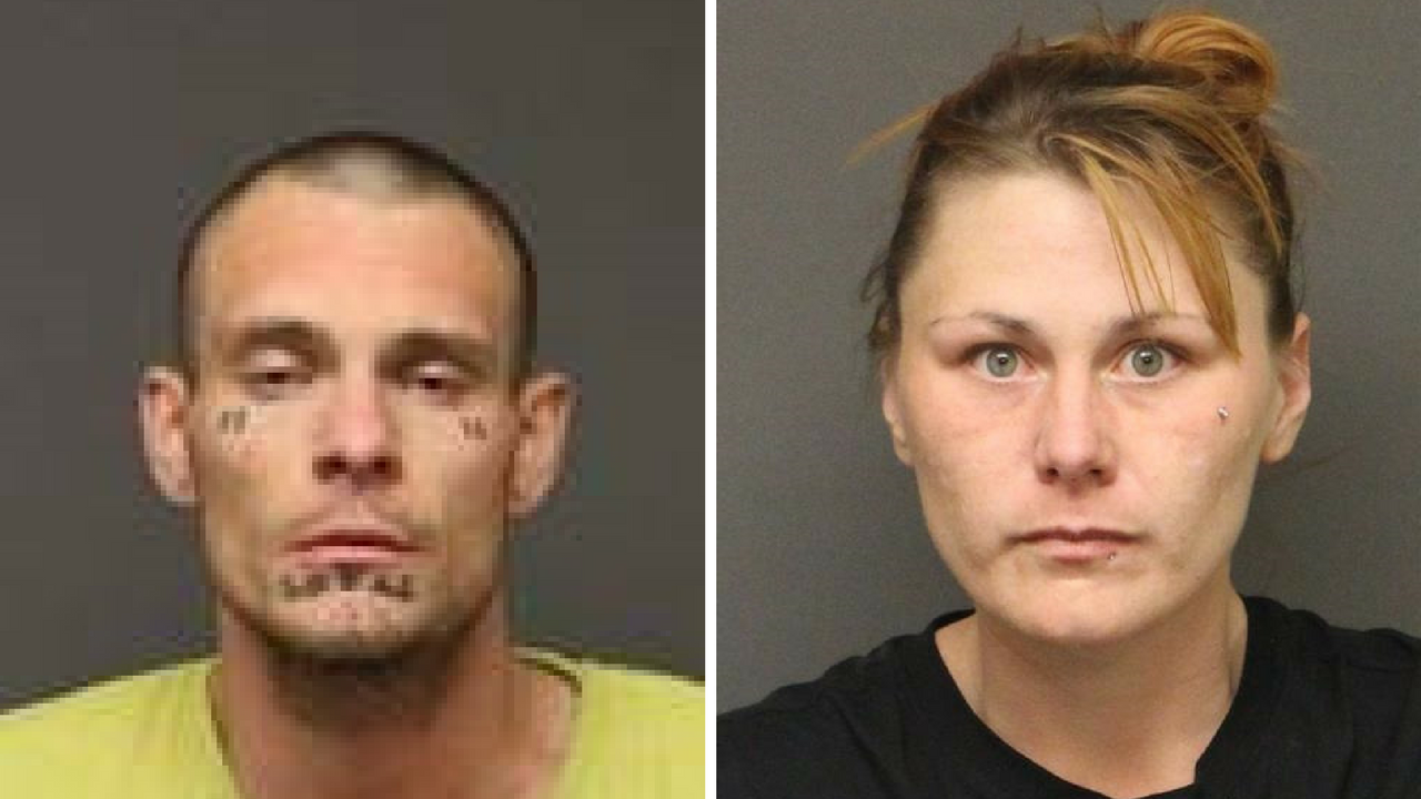 Brian Brown Jr., 29, and Shalene King, 27, arrested for burglary, arson and drug possession. (Source: Mohave County Sheriff's Office)