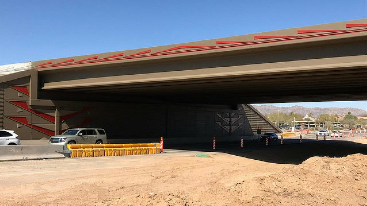 After crews painted the 40th Street interchange. (Source: ADOT)