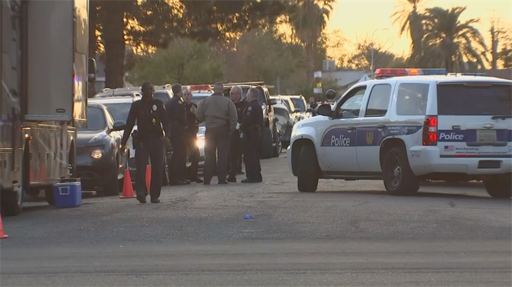 Police said the suspect had been firing a rifle from his truck, was shot in a confrontation with arriving police and died from his injuries at a hospital. (Source: 3TV/CBS 5)