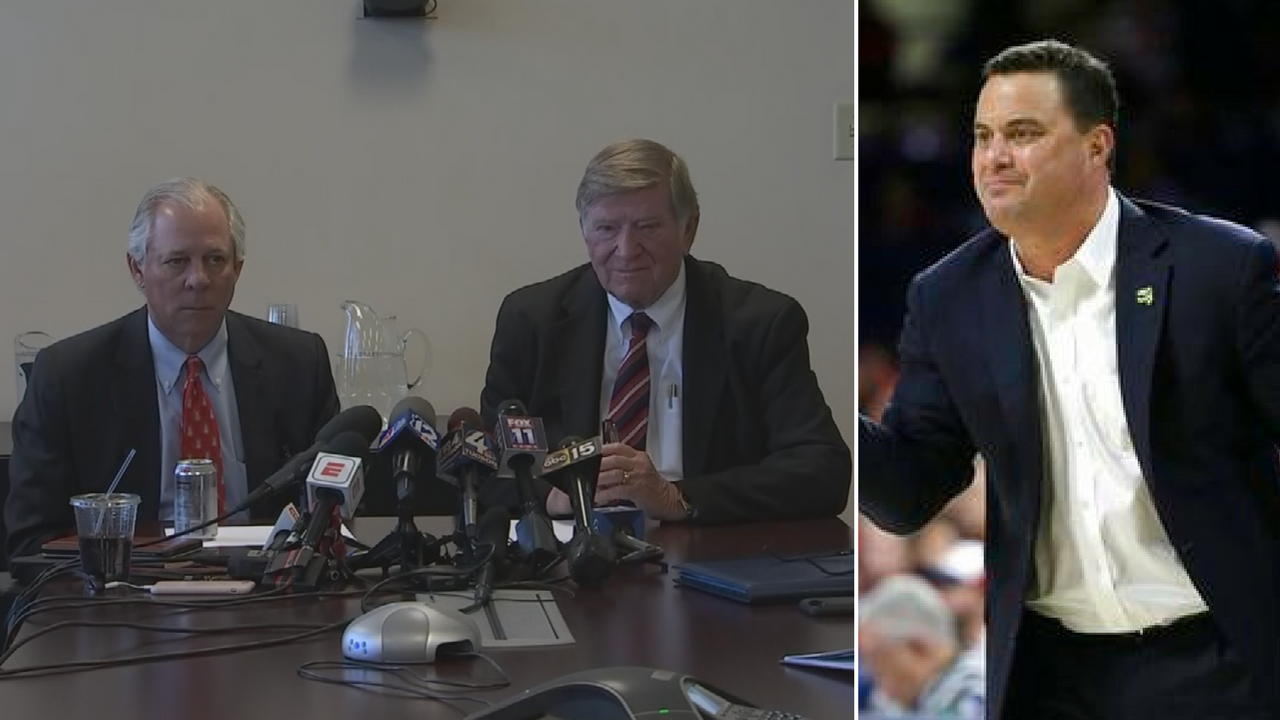 The Board of Regents chairman and University of Arizona president said Sean Miller didn't do anything wrong. (Source: 3TV/CBS 5/AP)