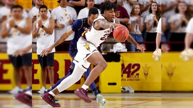 Revving up its highlight-reel, crowd-pleasing offense, Arizona State ran away from California with a huge second half to beat the Bears 84-53 Thursday night. (Source: AP Photo)