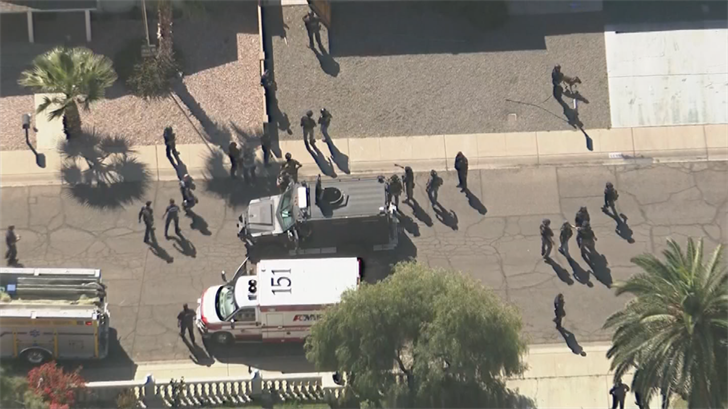 The scene at 43rd Ave. and Hatcher were an officer was shot (Source: 3TV/CBS 5)