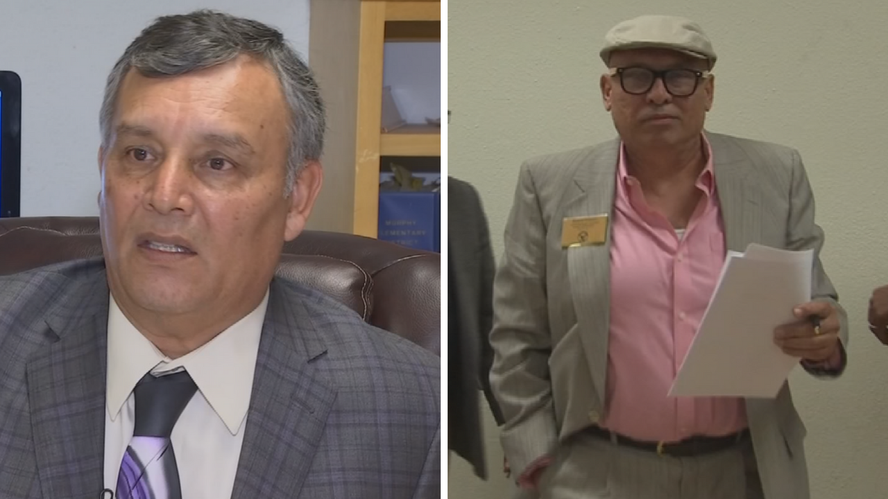 Jose Diaz, left, and Richard Polanco, right, are no longer with the district. (Source: 3TV/CBS 5)
