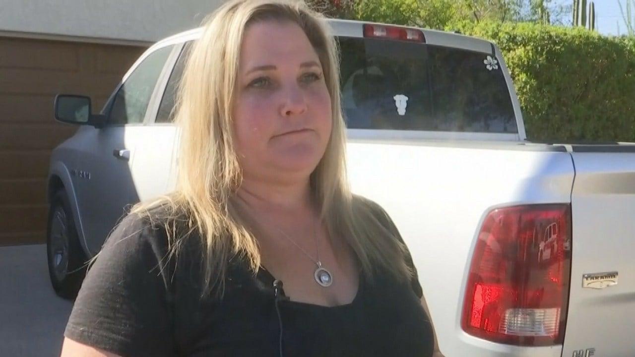 Homeowner Heather Frazier heard the impact. (Source: 3TV/CBs 5 News)