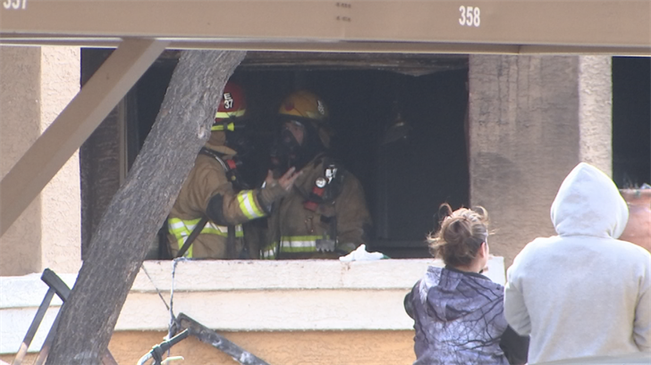 Phoenix firefighters extinguished the apartment fire but six people will be displaced. (Source: 3TV/CBS 5)
