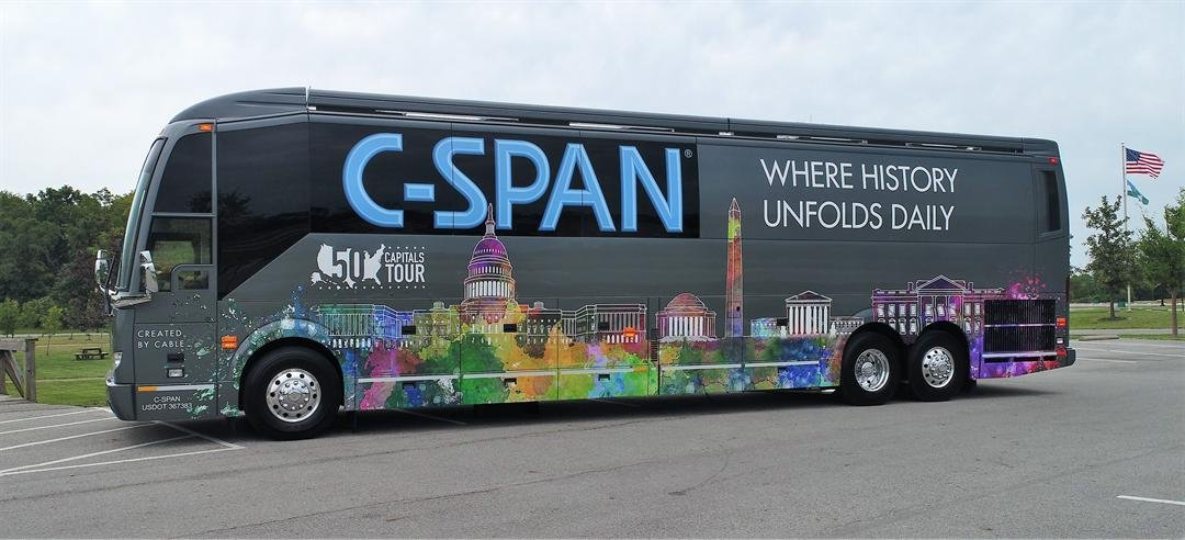 C-SPAN Buses have been touring the United States in 1993 (Source: C-SPAN)