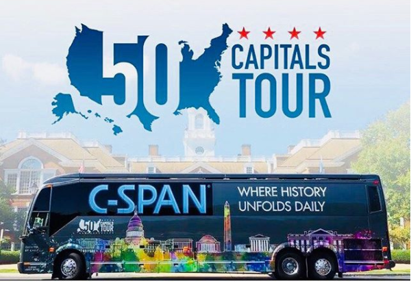 "The C-SPAN Bus is coming to Phoenix. Ariz. for its ""50 Capitals Tour.""  (Source: C-SPAN)"