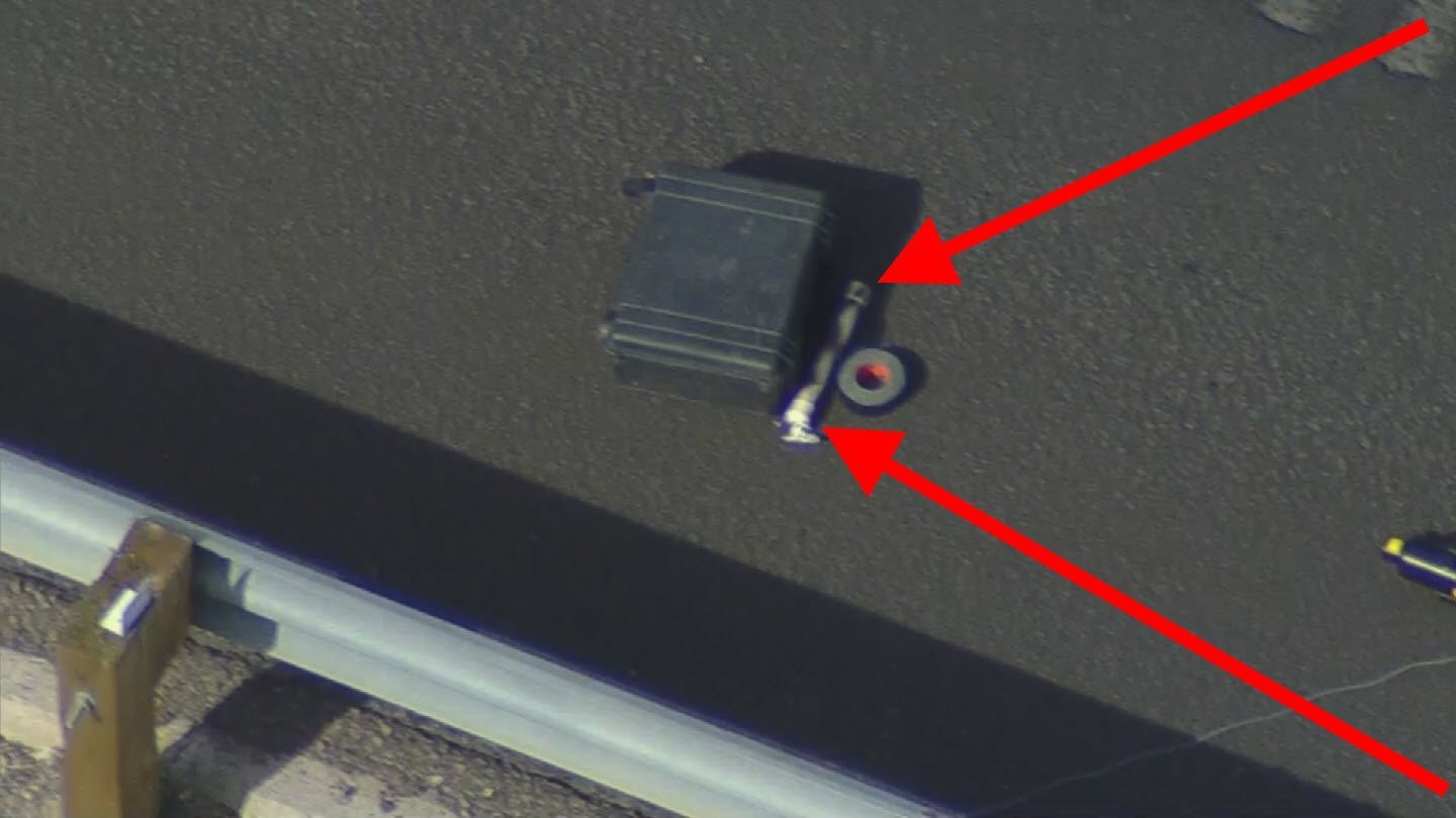 An ADOT worker found this suspicious item by the freeway Monday. (Source: Arizona Dept. of Public Safety)