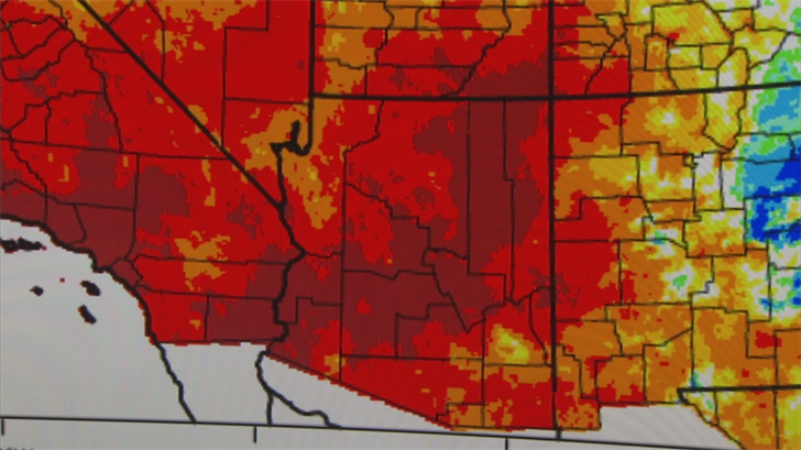 According to the Arizona Department of Water Resources, our meager snowfall has ranked the past year right up there with our driest years 2000 and 2006. (Source: 3TV/CBS 5)