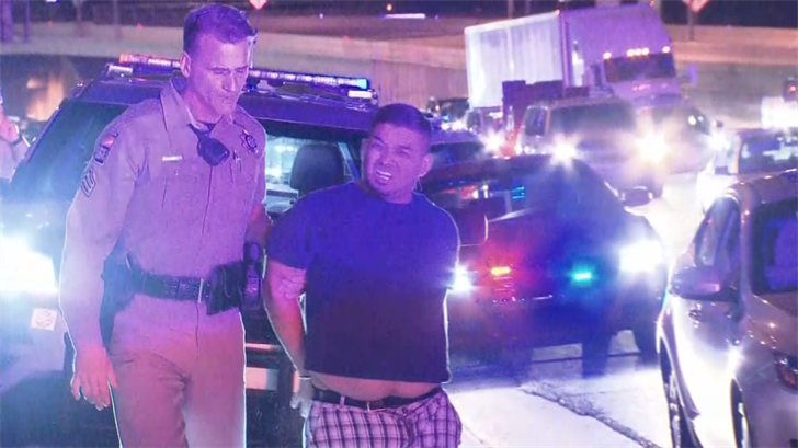 A driver was arrested after troopers used stop sticks during a second pursuit, DPS said. (Source: 3TV/CBS 5)