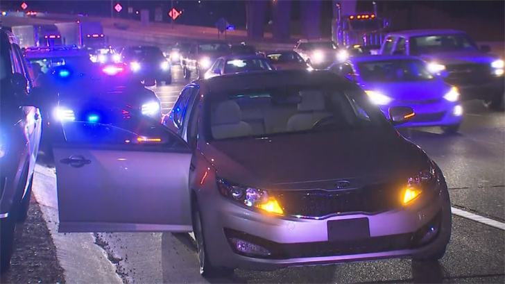DPS said stop sticks were used on the suspect's car. (Source: 3TV/CBS 5)