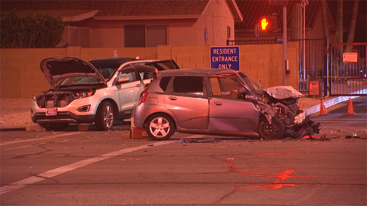 A man was killed in a two-vehicle crash in Mesa. (Source: 3TV/CBS 5)