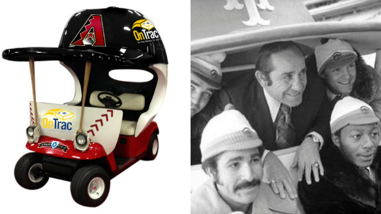 Nearly a quarter-century since relievers stopped catching rides to the mound, the bullpen cart will become the latest retro feature to make a return to the big leagues. (Source: Arizona Diamondbacks/AP Photo)