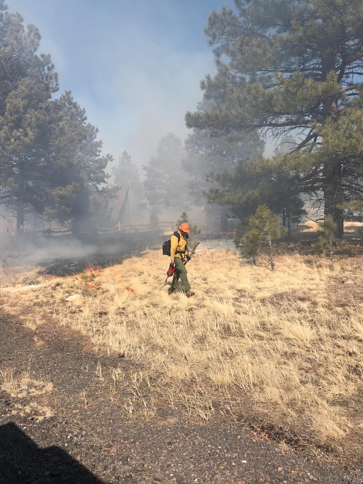 They say the wildfire burned in grasslands southeast of Kendrick Park and produced smoked that had the potential to limit visibility in the area. (Source: U.S. Forest Services)
