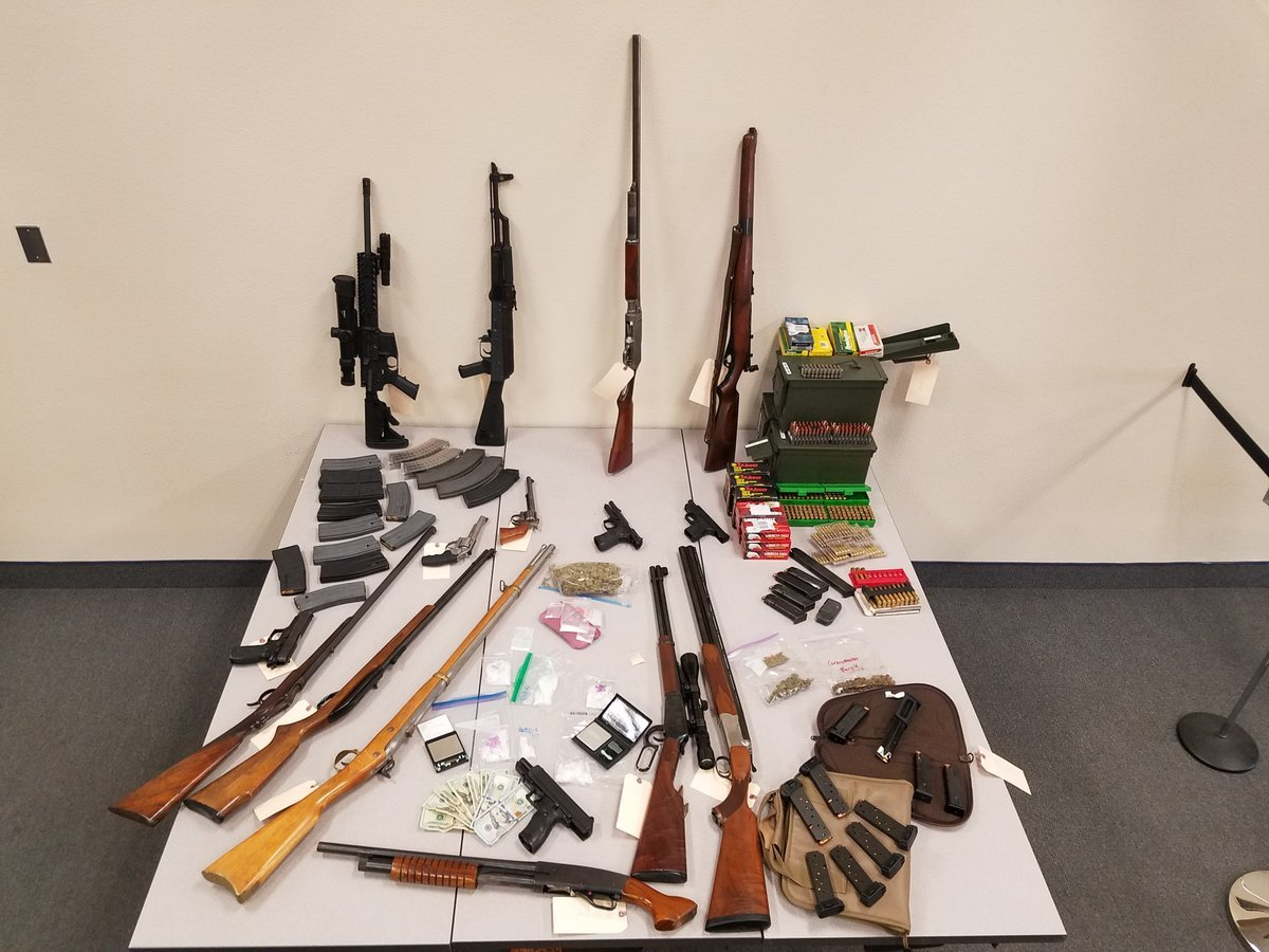 Davey was found to be in possession of multiple firearms and drugs. (Source: 3TV/CBS 5)