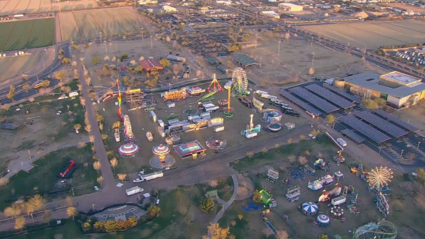 An aerial view of the Chandler Ostrich Festival (Source: 3TV/CBS 5)