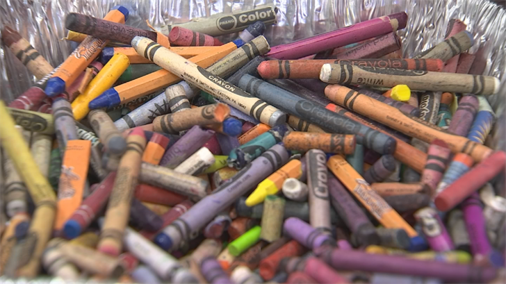 The Crayon Initiative's mission is to recycle crayons to preserve the environment and enrich the lives of hospitalized children. (Source: 3TV/CBS 5)