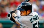 FILE - In this May 29, 2012, file photo, Seattle Mariners' Ichiro Suzuki bats against the Texas Rangers during a baseball game in Arlington, Texas. (Source: AP Photo/Tony Gutierrez, File)