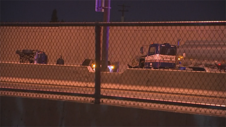 A multi-vehicle rollover crash involving a semi closed southbound Interstate 17 in Phoenix early Thursday morning. (Source: 3TV/CBS 5)