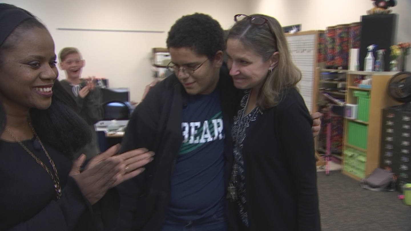 Tisha Tulle Webber has a son in Johnsen's class. They both appreciated her raw honesty and felt compelled to do something to help, so they reached out to CBS 5 to Pay it Forward to Johnsen. (Source: 3TV/CBS 5)
