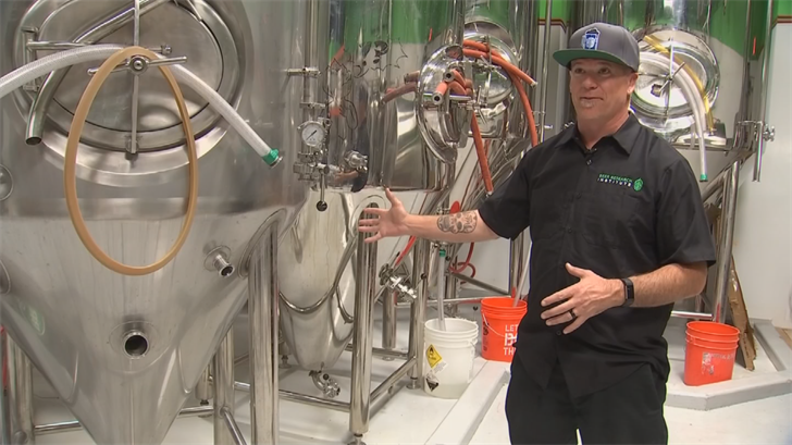 Mat Trethewey, owner of the Beer Research Institute. (Source: 3TV/CBS 5)