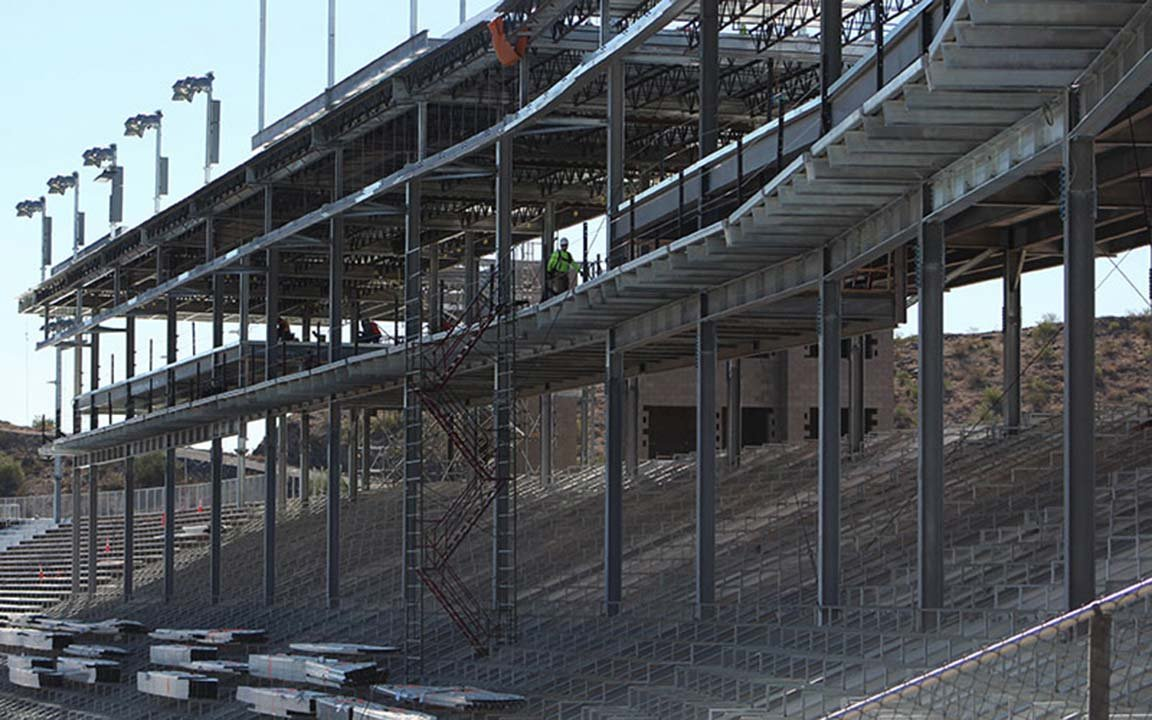 Another eyepopping difference will be the new grandstand structure to coincide with the relocated start/finish line. (Photo by Michelle Minahen/Cronkite News)