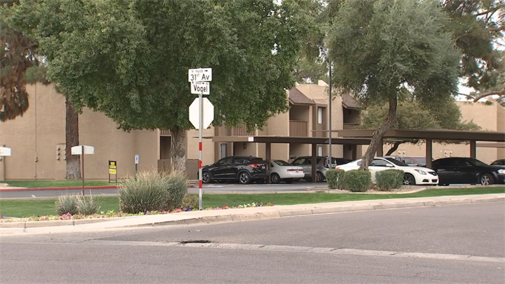Scene near 31st Avenue and Vogel where Joseph King, 23, was shot and killed. (Source: 3TV/CBS 5)