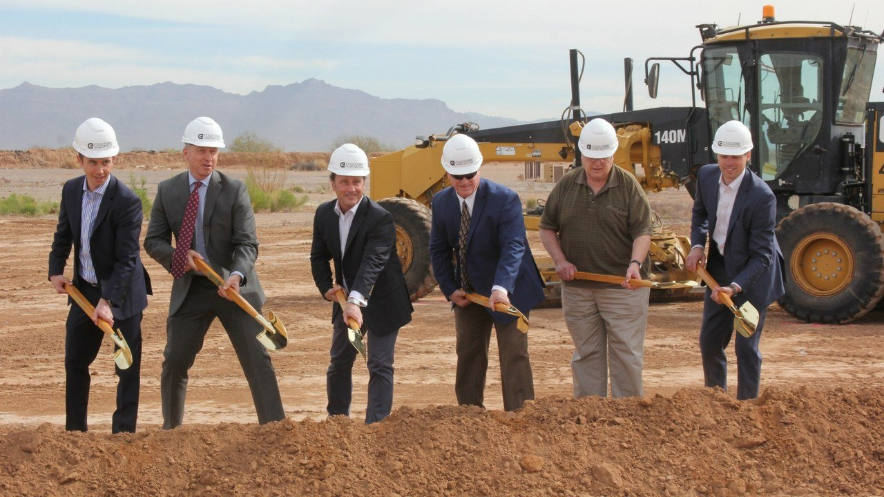 Groundbreaking at the Mesa Data Center Campus. (Source: City of Mesa)